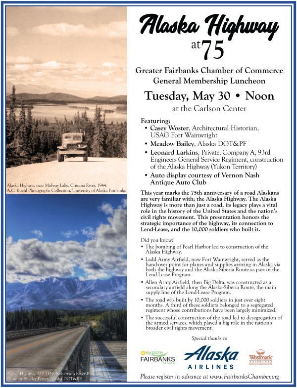 Alaska Highway Event flyer