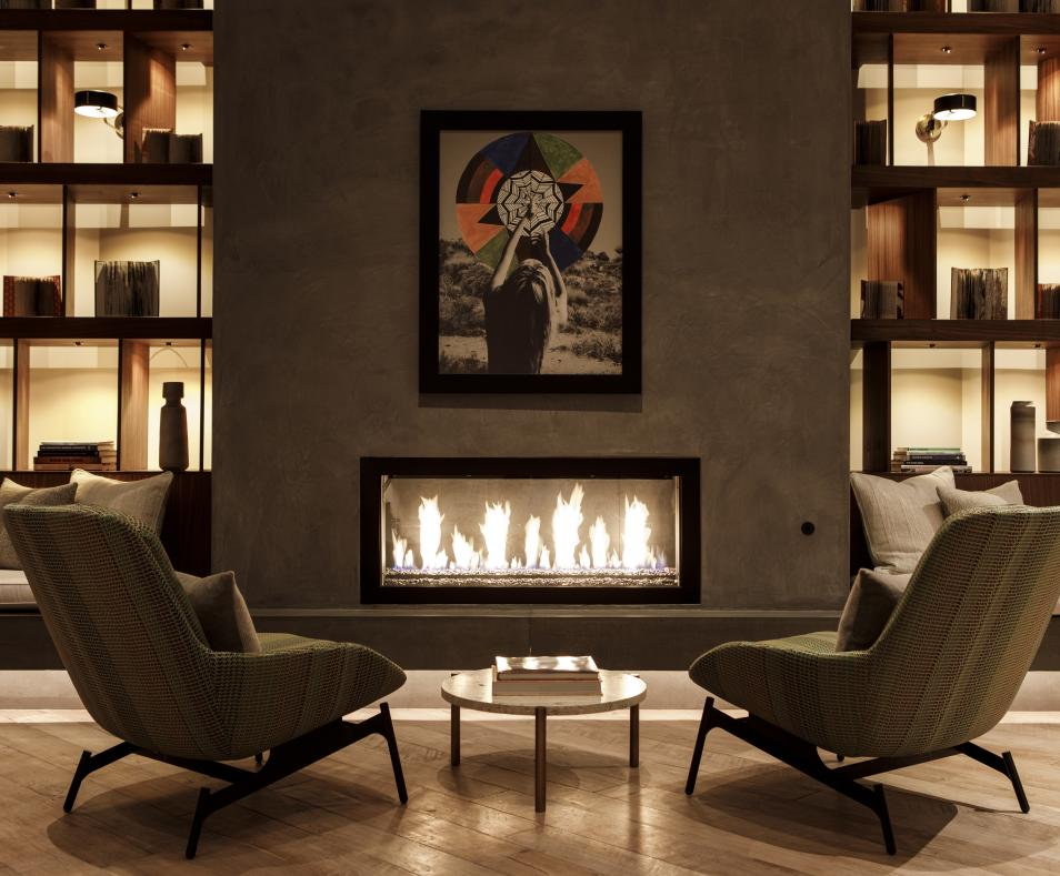 Fireplace in the Livingroom
