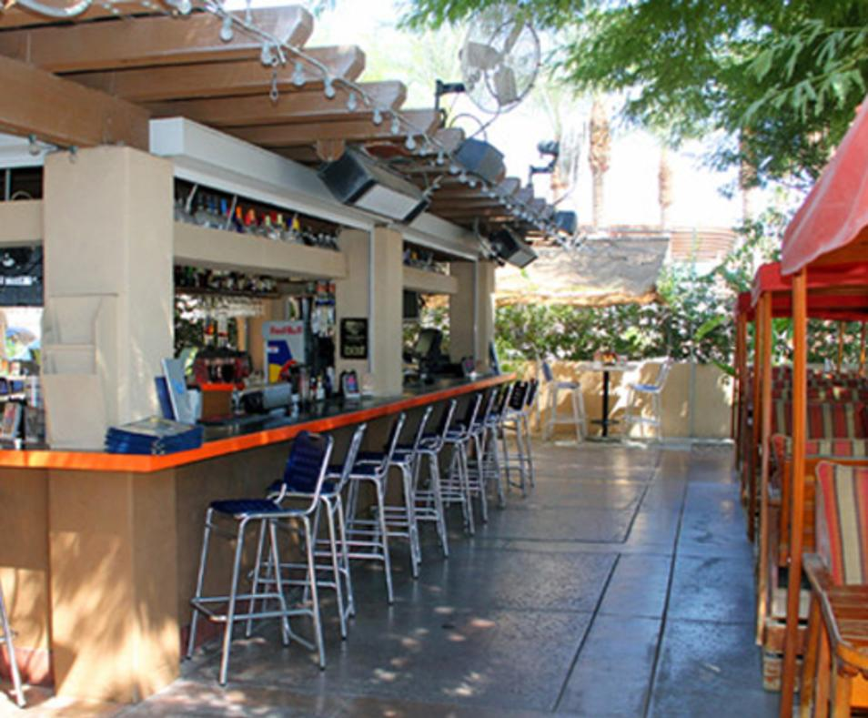Outside patio and bar