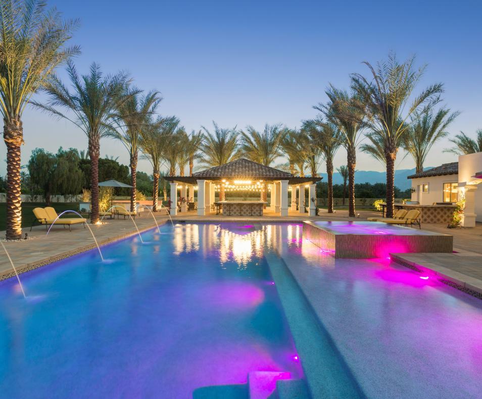The Pool & Bar @ Night
