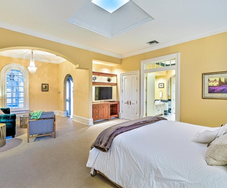 Pond Estate Master Suite in Main House