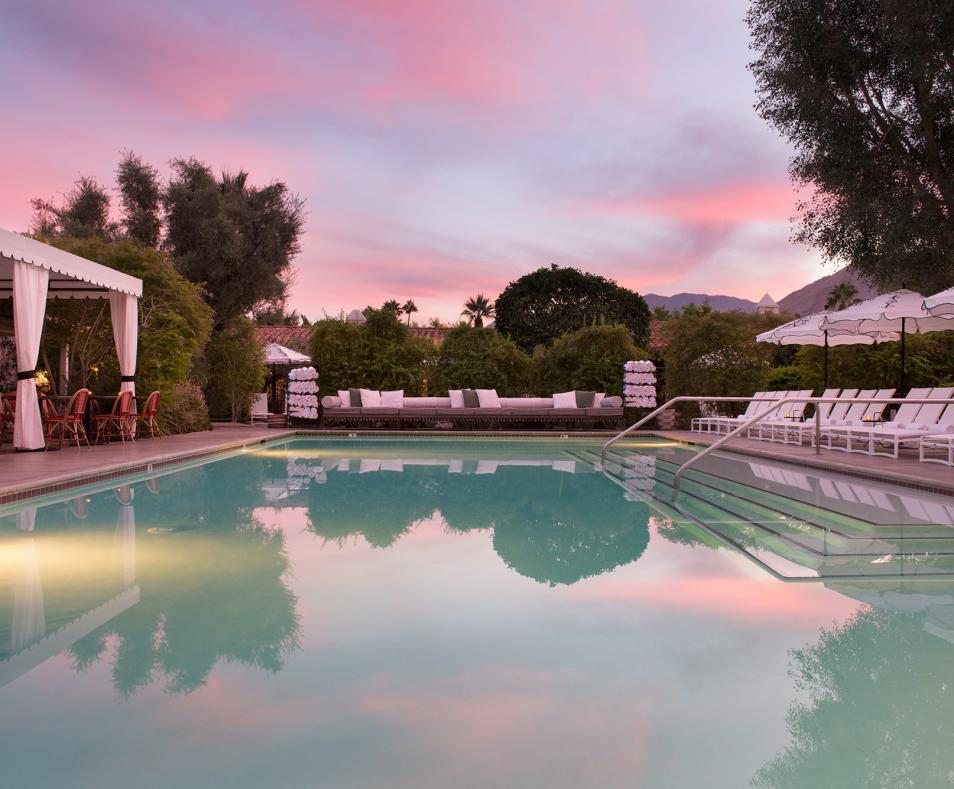 Colony Palms pool evening