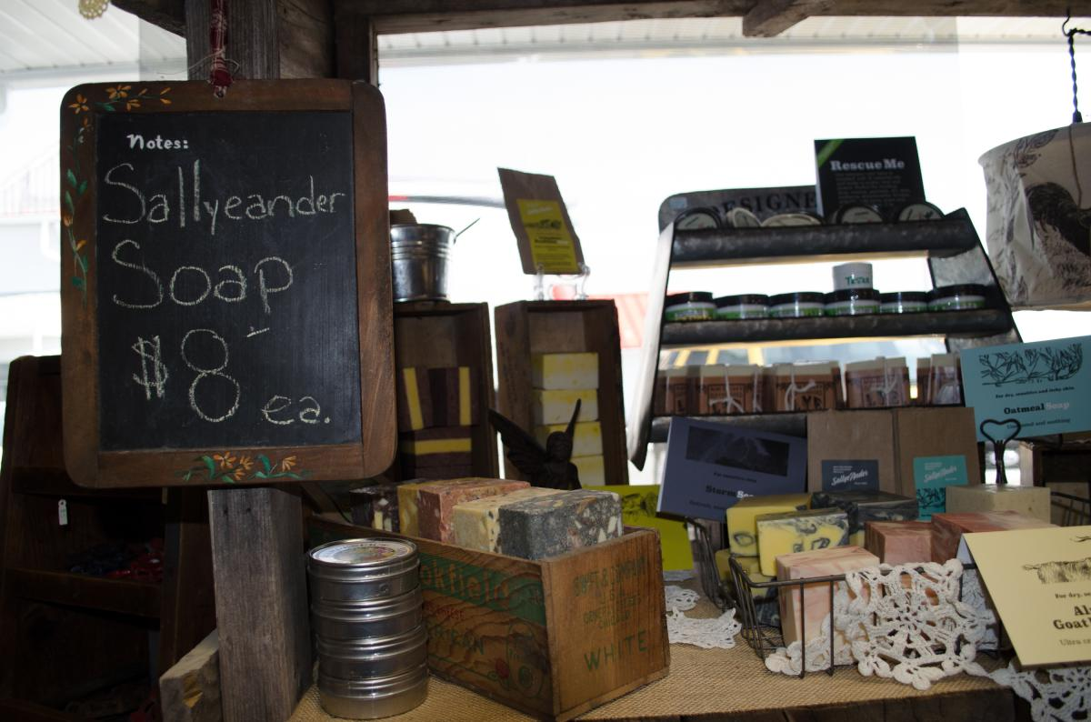 Several of the vendors offer homemade items, including bath and body products.