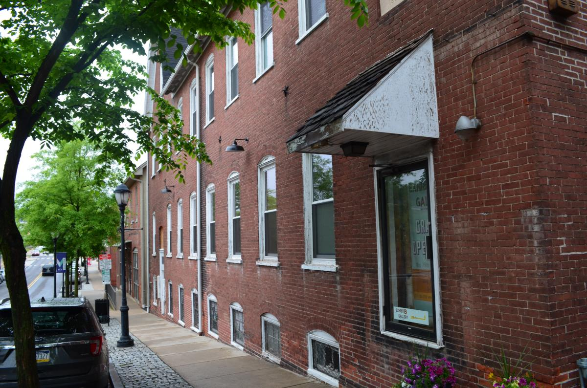 Exhibit B Gallery is located in a nondescript brick building in Souderton's downtown