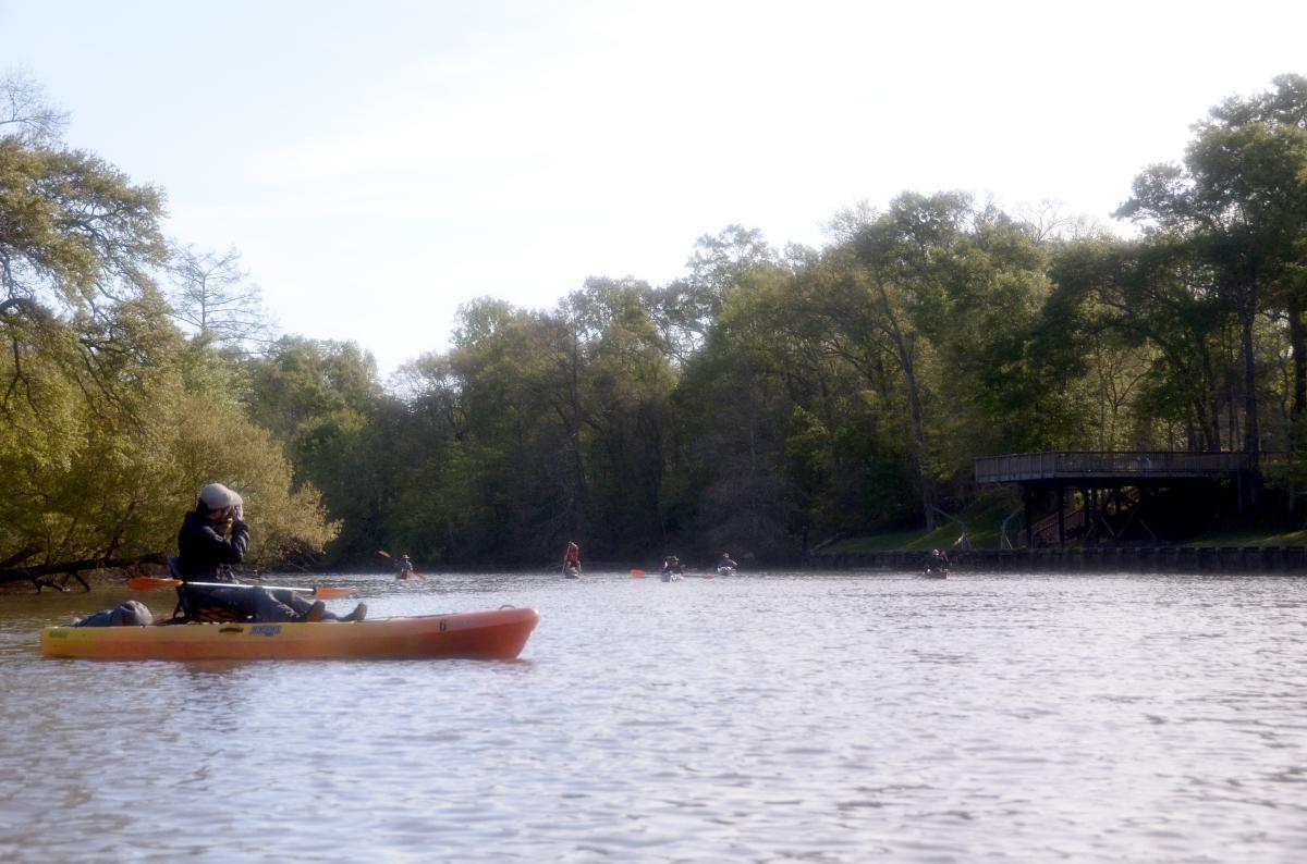 Bayou Vermilion Excursion: Paddlers on the Vermilion