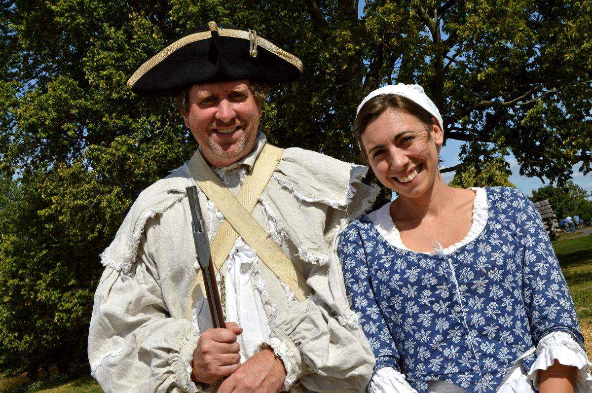 Historic reenactors at Valley Forge National Historical Park