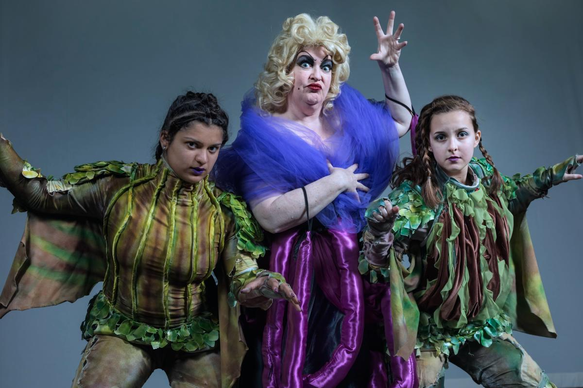 Ursula and the eels from Steel River Playhouse's The Little Mermaid