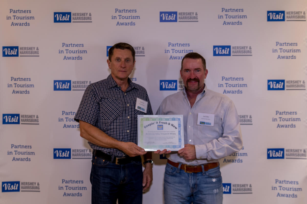 Tourism Awards 2016 - Keepin It Fresh Certificate - Armstrong Valley Winery