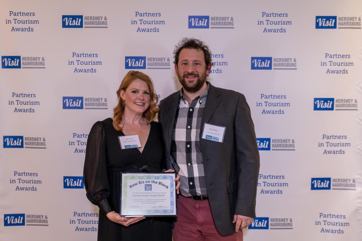 Tourism Awards 2016 - New Business Certificate - Hershey Perplex Escape Room