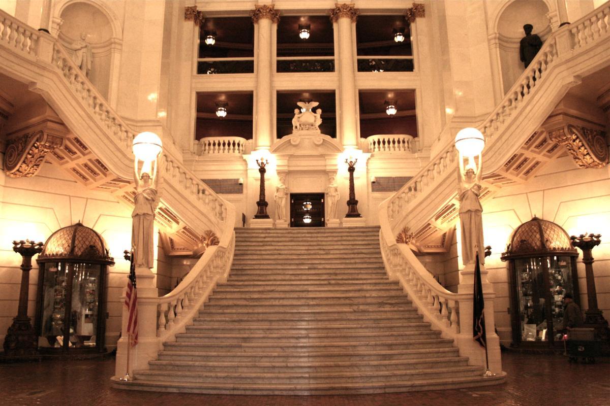 PA Capitol Complex-Harrisburg-Grand Staircase-Interior