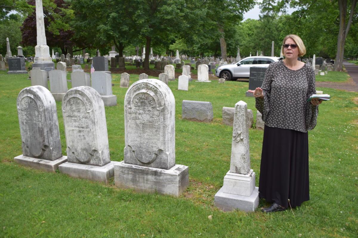 Tammy Schane in Doylestown Historic Cemetery