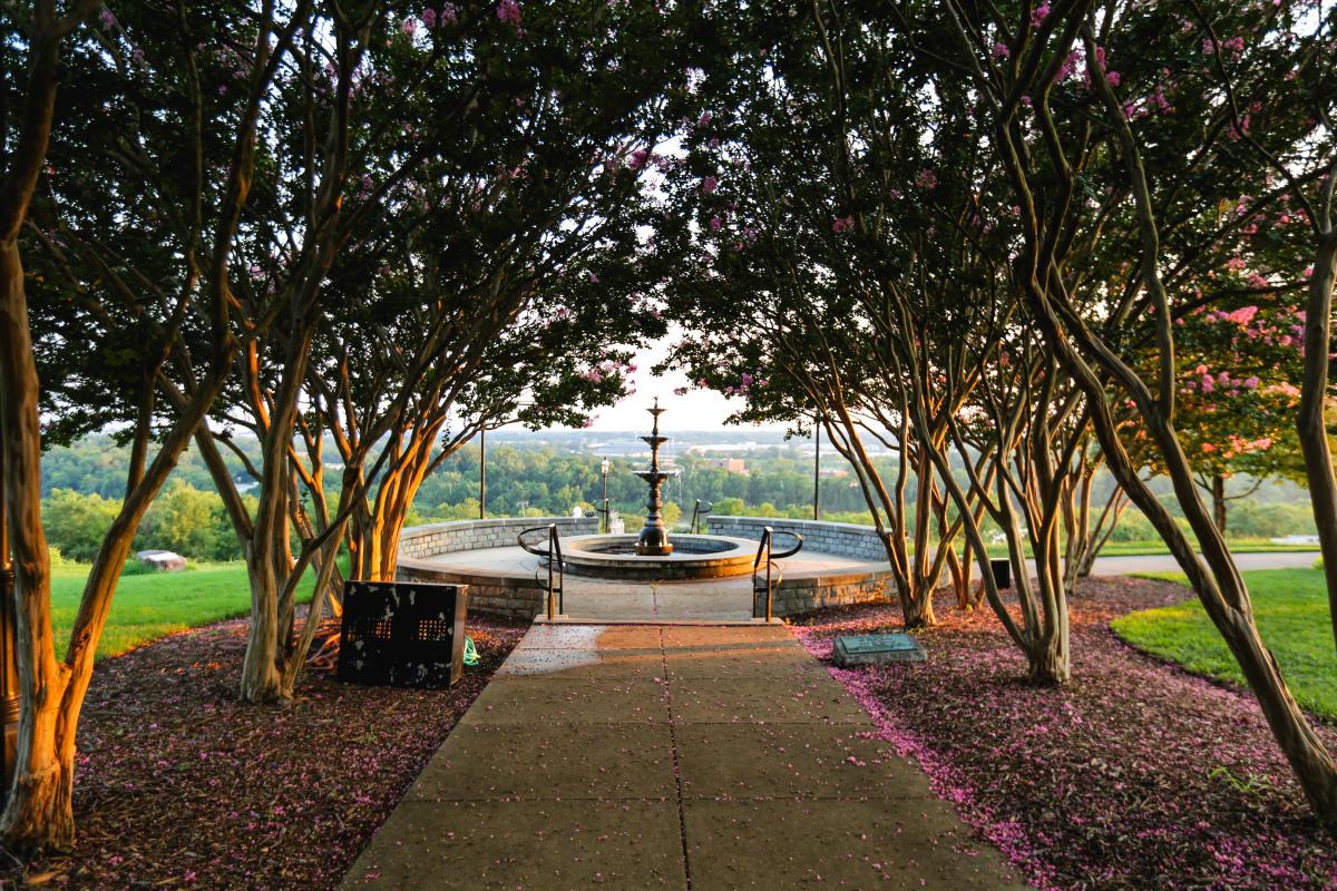 Libby Hill Park fountain