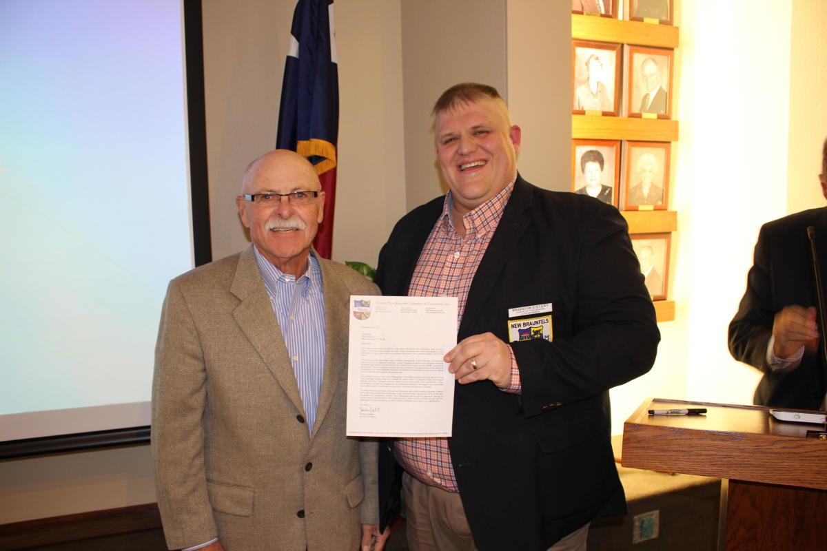 Bob Smith with his Hall of Honors Award
