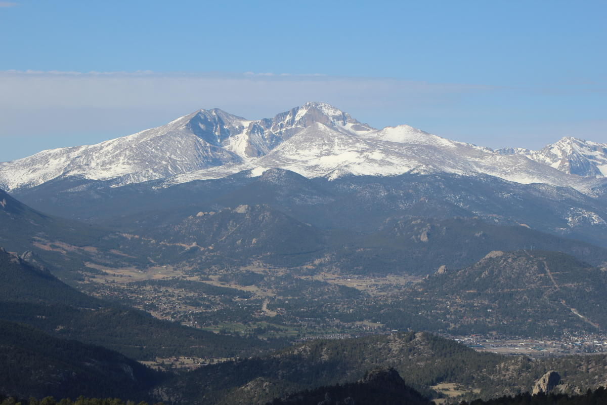 Crosier Mountain - Long's Peak and the Estes Valley - RMNP