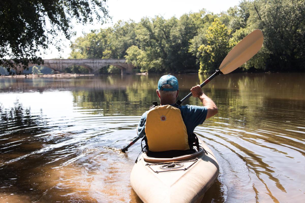 Kayak Under Aqueduct