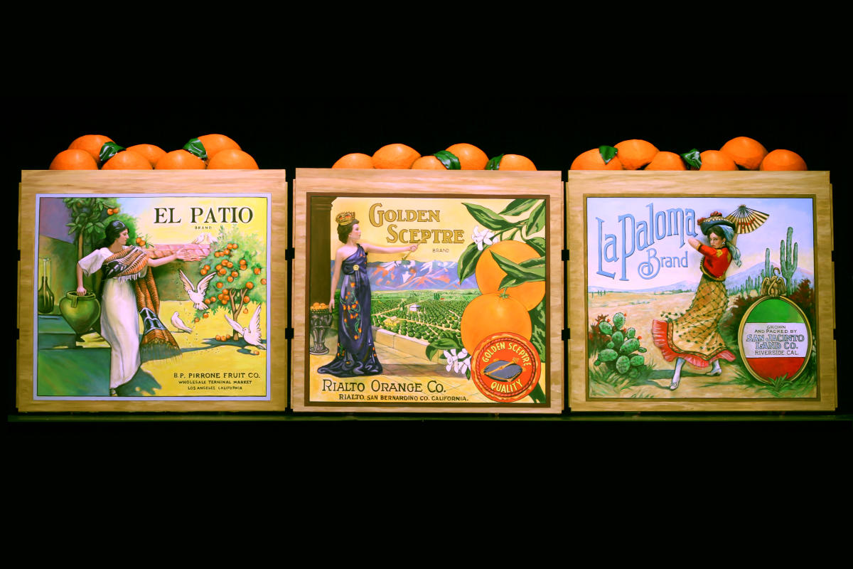 Pageant of the Masters Crate Labels