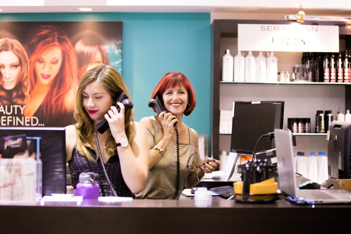 Reception desk at J Russell Salon