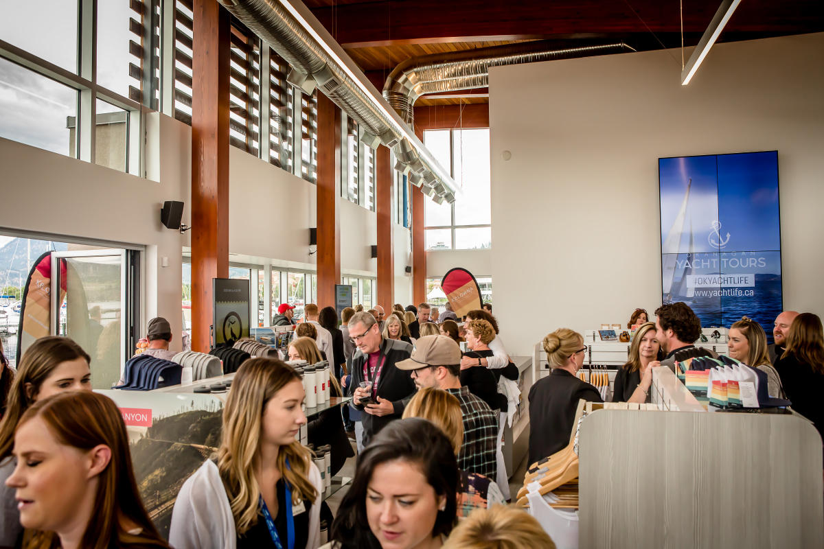 Inside the new Kelowna Visitor Centre