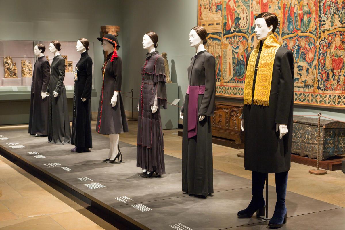 heavenly bodies, exhibition interior, met museum