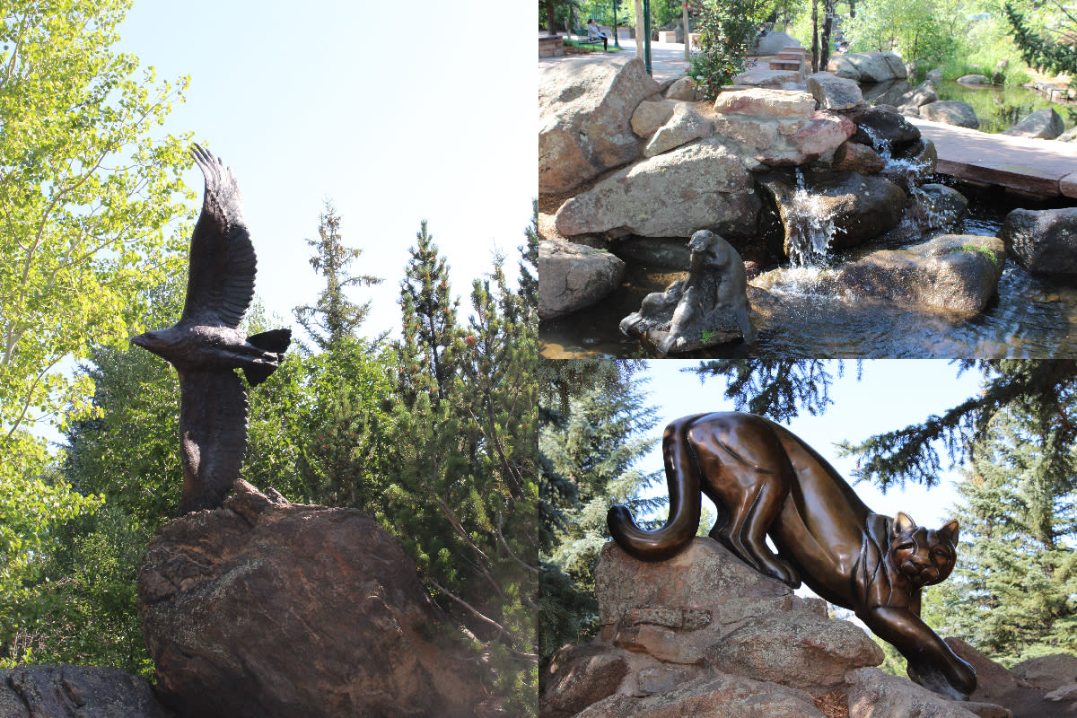 Statue Riverside Plaze Collage