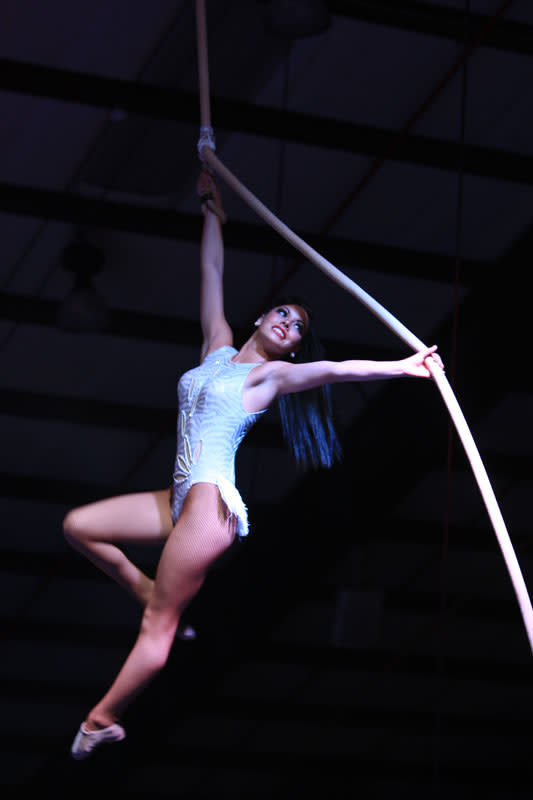 Aerial Performers at the Shrine Circus. Credit Circus United.