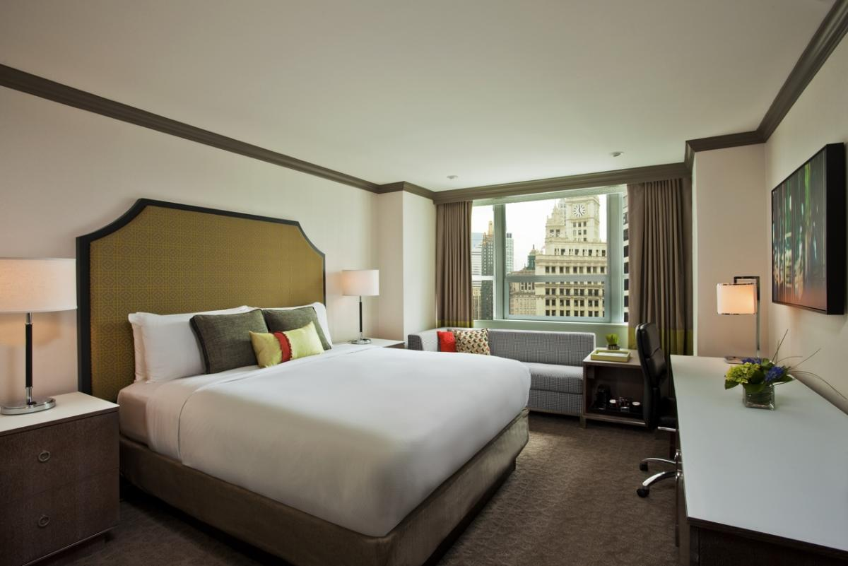 Grand Tower King Room at InterContinental Hotel Chicago