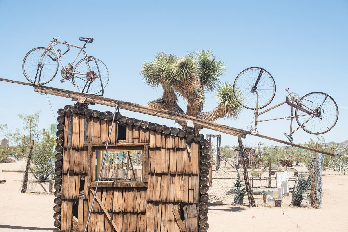 Noah Purifoy Bikes on Roof
