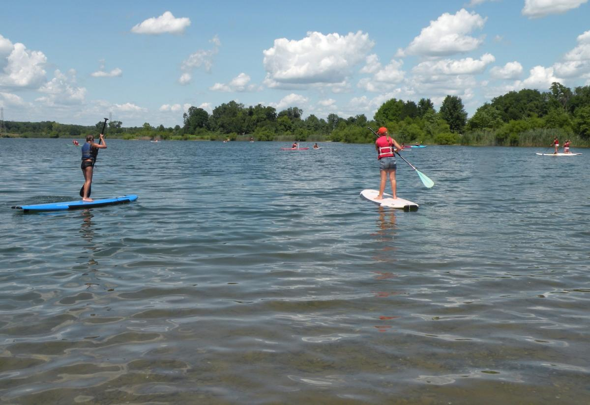 Paddle boarding with Driftwood Water Adventures