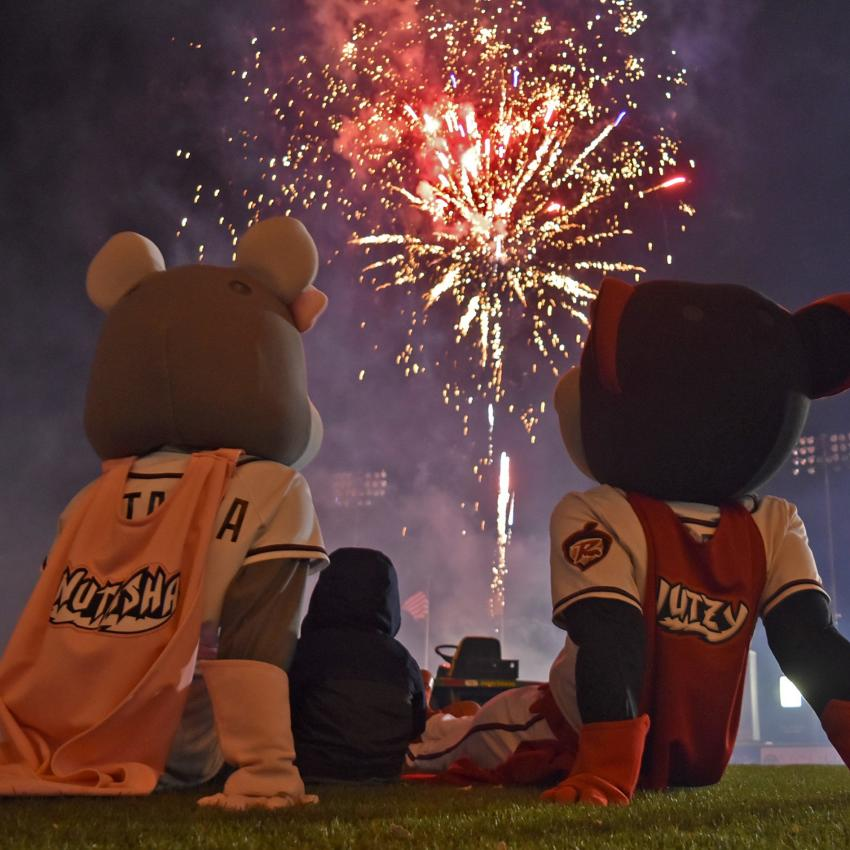 Flying Squirrels fireworks