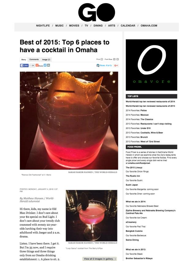 OWH: Top 6 places to have a cocktail