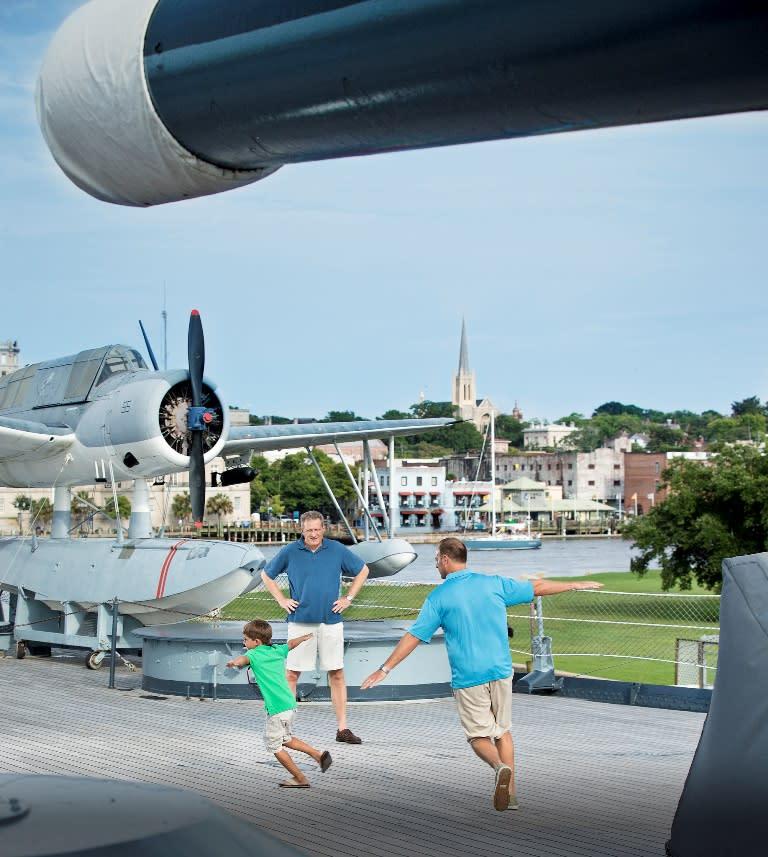 Family fun on the Battleship NORTH CAROLINA