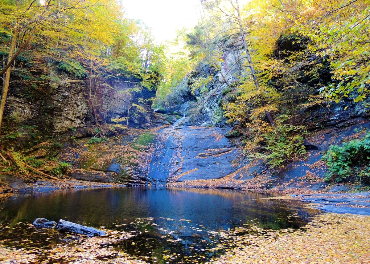Indian Ladder Falls in the Pocono Mountains