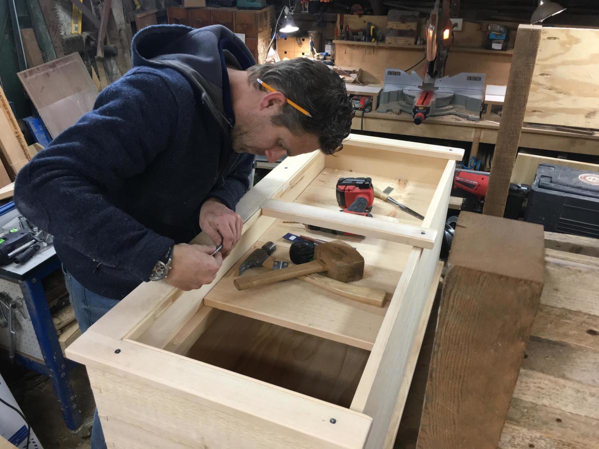 Jeff Devlin working