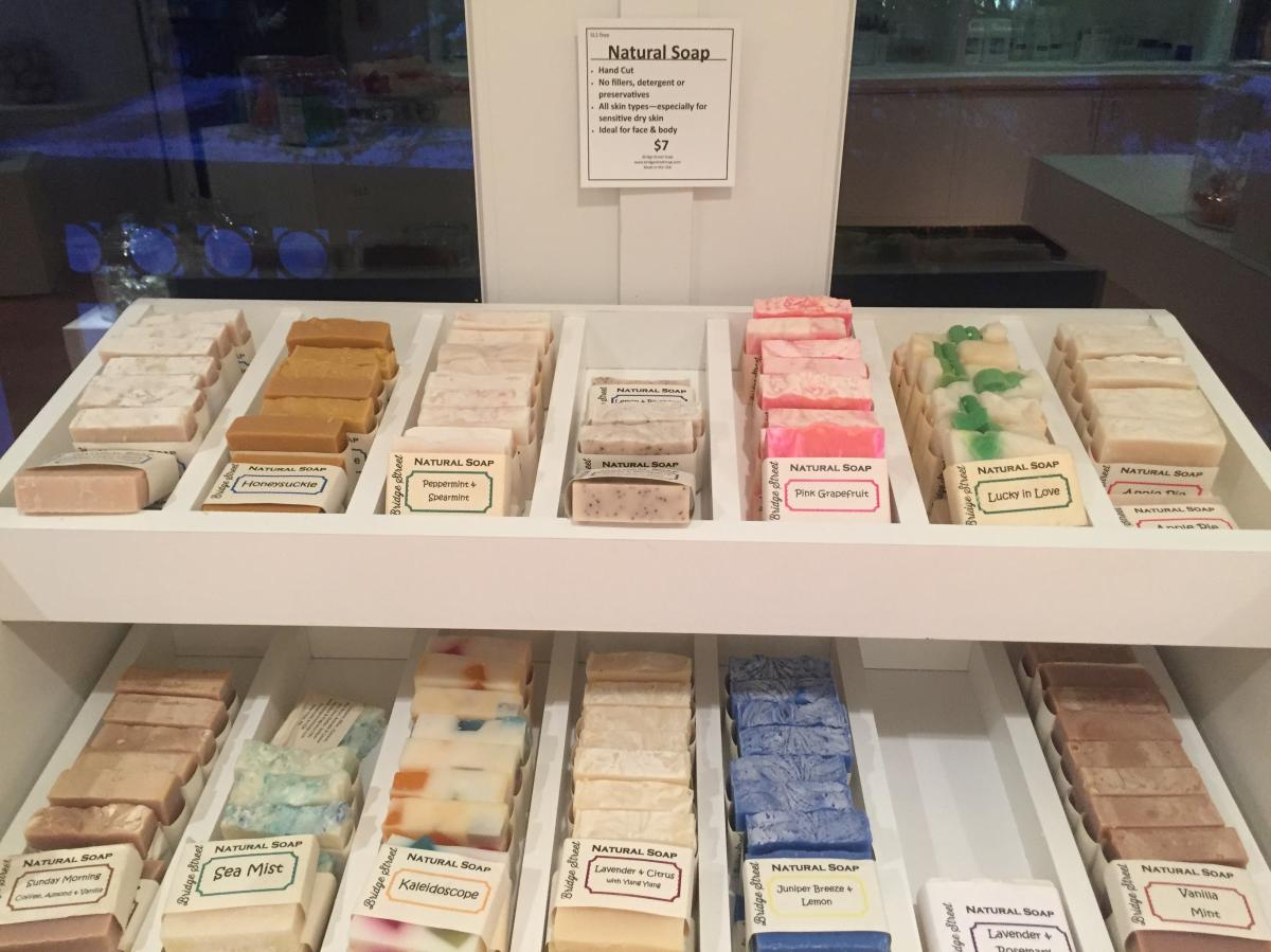 Soap display Bridge Street Soap Company