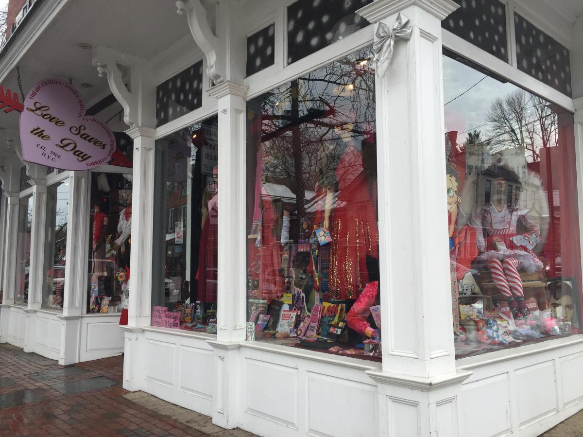 Love saves the day shopfront window