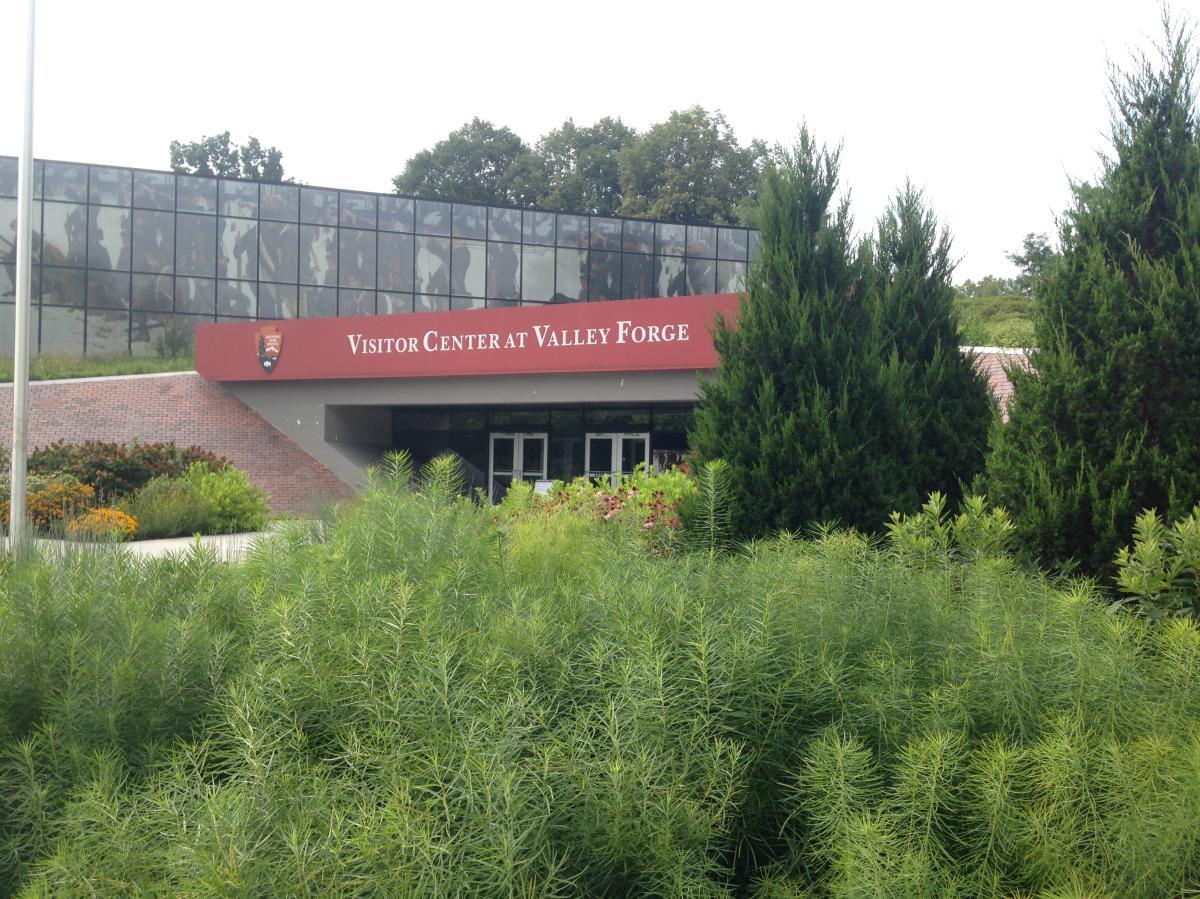 Arrived: Visitors Center at Valley Forge