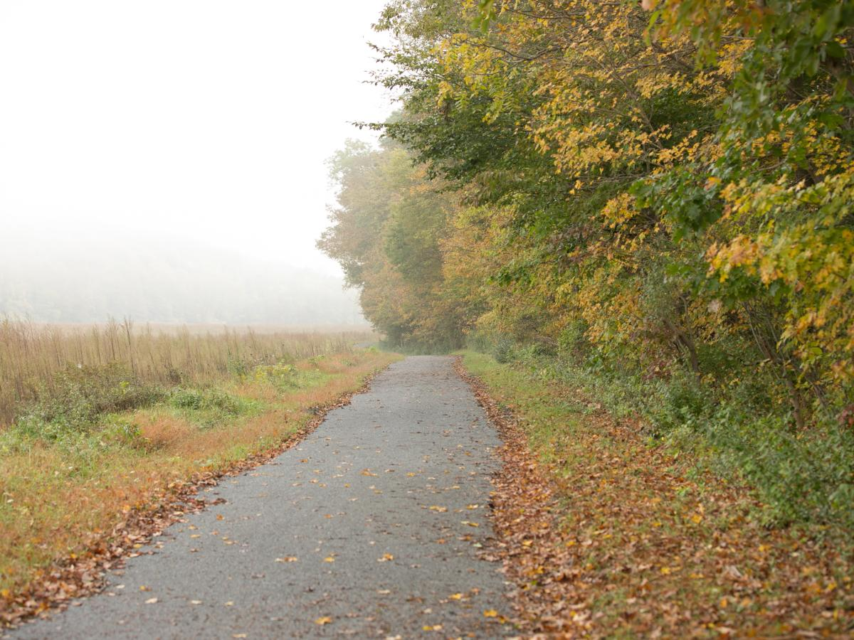 Fall Hiking Along the McDade Trail in the Pocono Mountains
