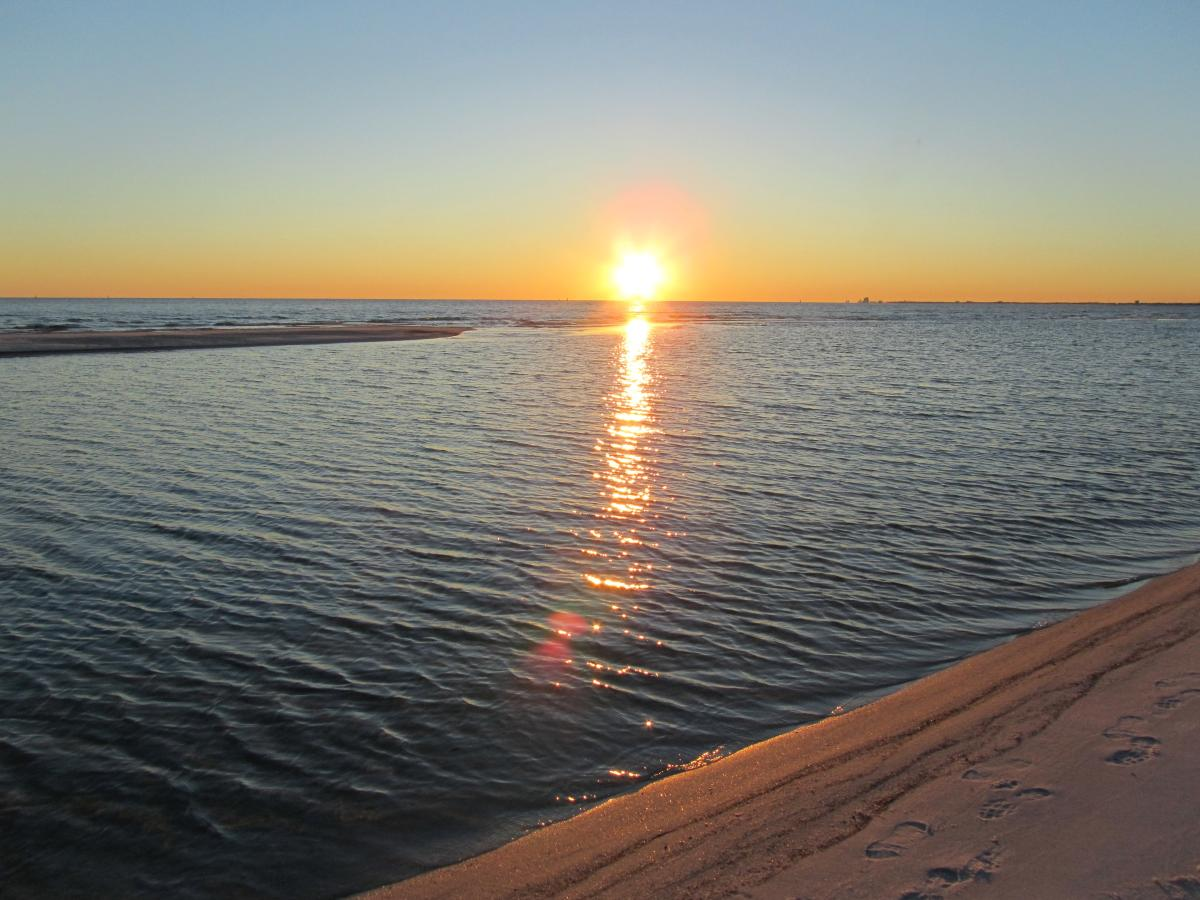 Fort Pickens at Sunset
