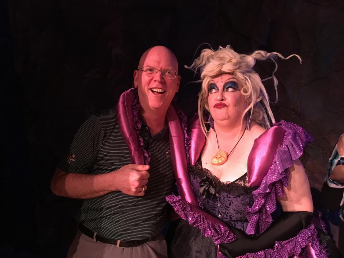 Ursula and our blogger at Steel River Playhouse