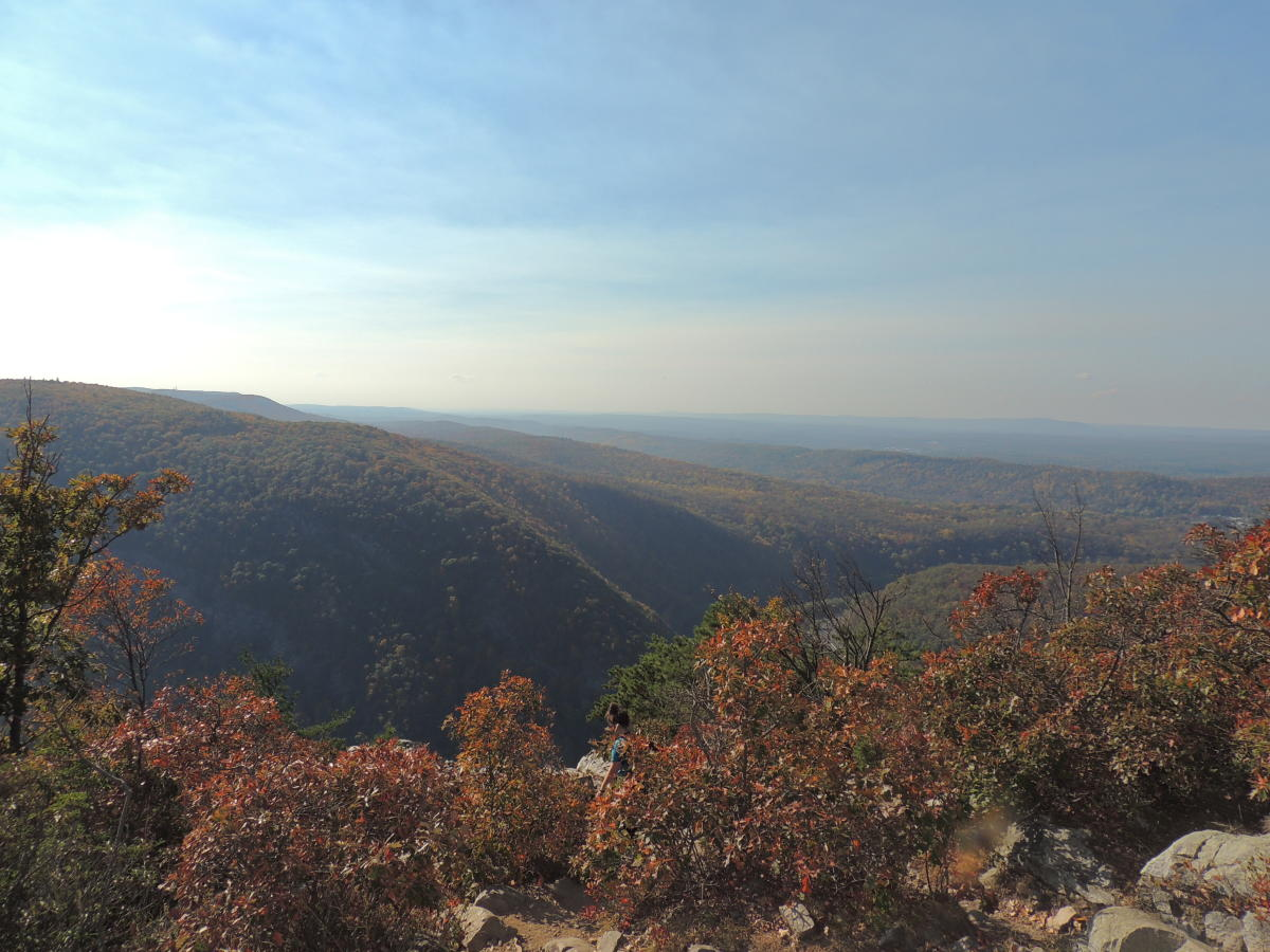 Scenic Views of the Pocono Mountains from Mount Tammany