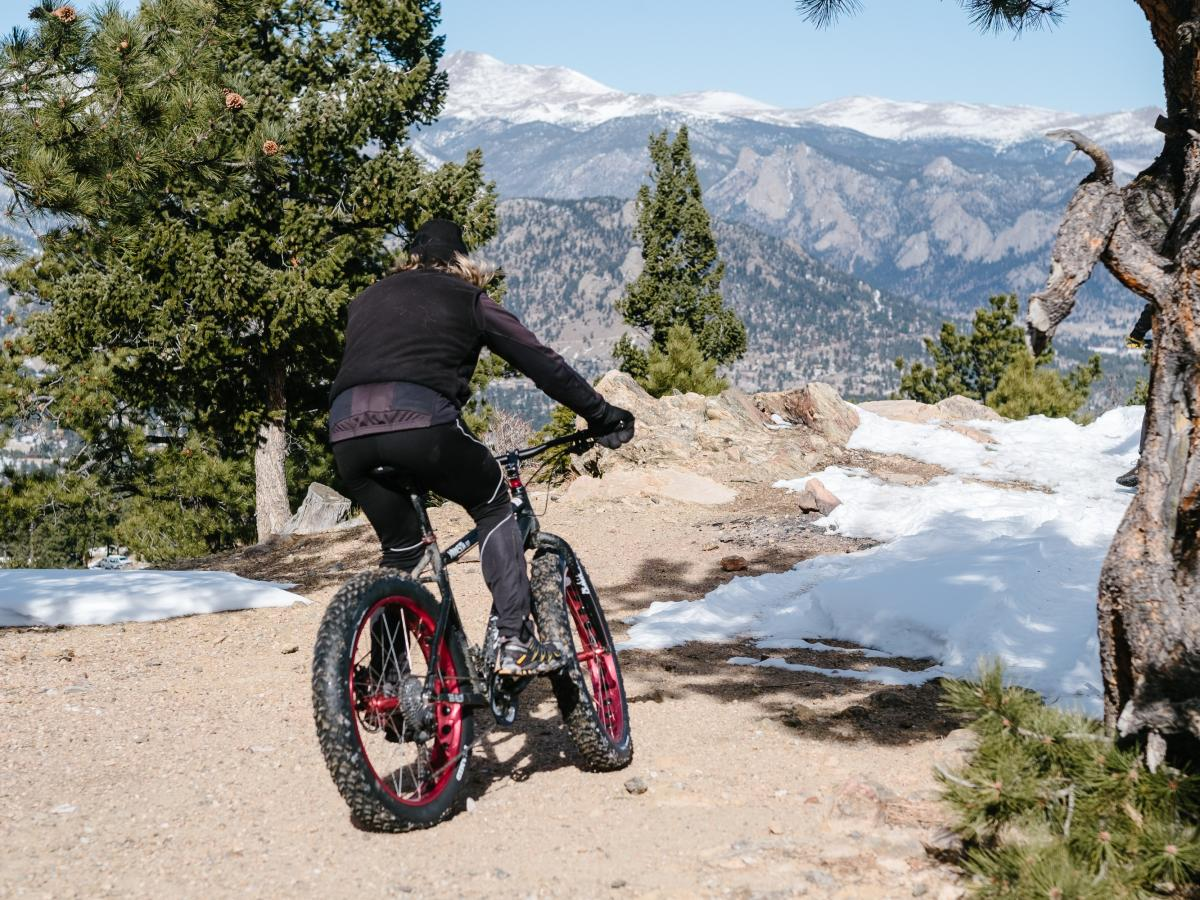 Fat biking winter