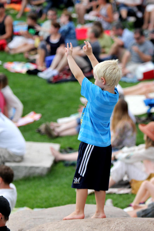 Kids at Sounds Like Summer Concert Series in Phoenix Park