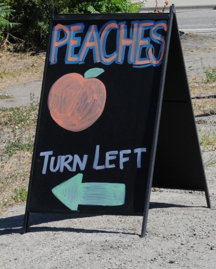 Peaches Sign | Gatzke's Farm Market
