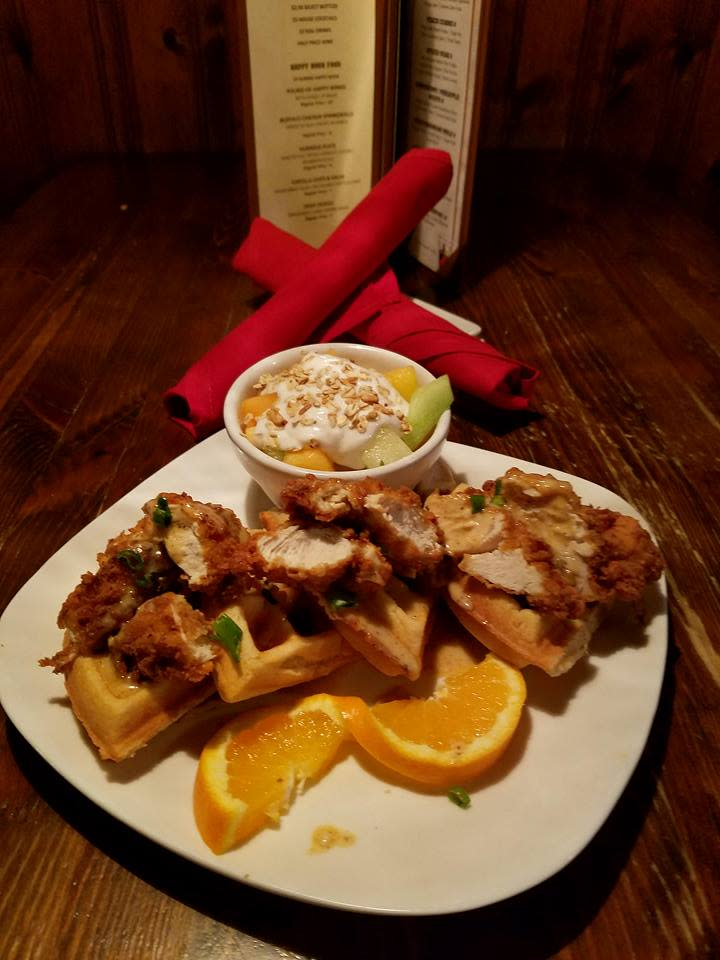 Chicken and Waffles plate at Cellar Door