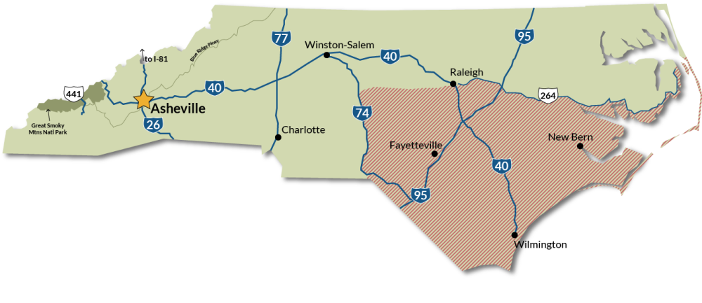 Travel Conditions in North Carolina, September 2018