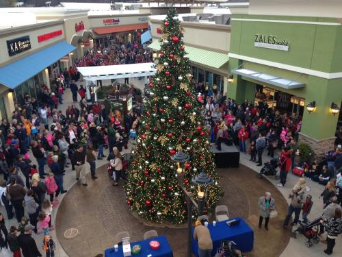 Christmas at the Asheville Outlets