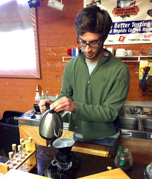 Grand Rapids Coffee Roasters Barista At Work