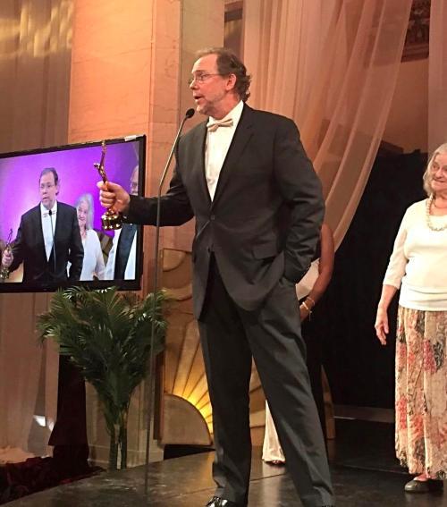 John Harper Philbin accepting awared at the 2017 Eclipse Awards
