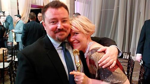 Michael McCallum and Laura Walczak at the 2017 Eclipse Awards