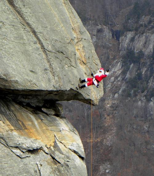 Santa on the Chimney